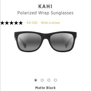 Maui Jim Black Kahl Polarized Sunglasses with Case